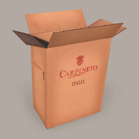 3ds max cardboard wine box