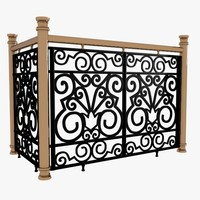 Decorative Wrought Iron Fence Balcony