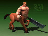 centaur mythological 3d model