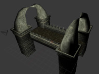 3d model stone bridge fantasy