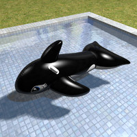 Orca inflatable pool toy