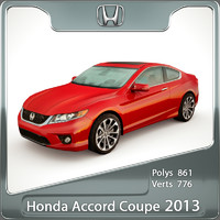 3d honda accord coupe 2013 model