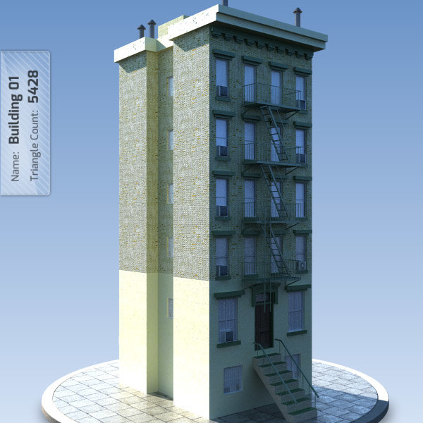 Low Poly New York Building 1