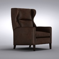 Crate and Barrel - Astaire Leather Wingback Recliner