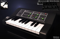 3d model analog synthesizer