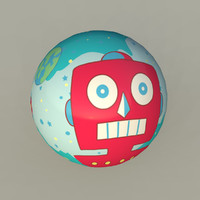 3d space ball toy
