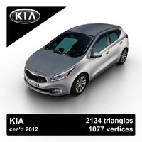 2012 kia cee d 3d model