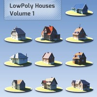 Low Poly Houses Volume 01