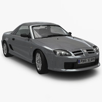 3d mgtf british sports car