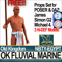 Free Ancient Egypt OK Fluvial Marine Props Poser Daz