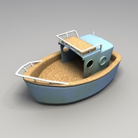 Used Toy Plastic Boat
