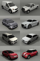 3d model cars connect pickup