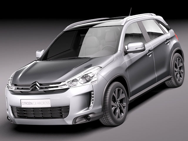 3d citroen c4 aircross suv. Black Bedroom Furniture Sets. Home Design Ideas