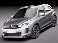 3d model citroen c4 aircross suv