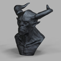 Creature Head Sculpture