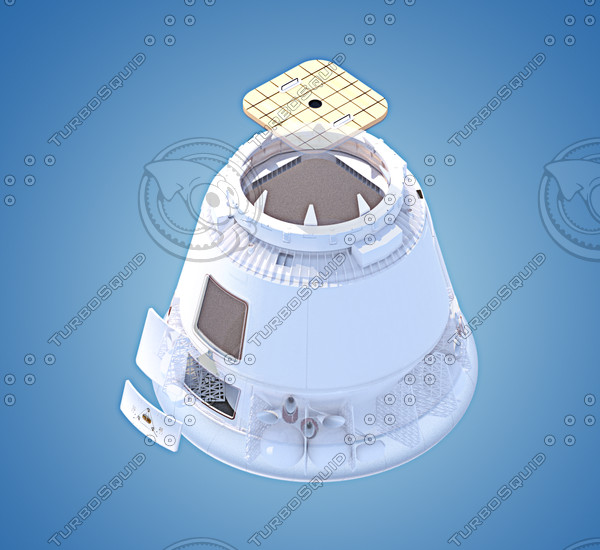 SpaceX Dragon 3D Model - Pics about space