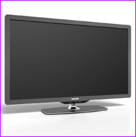 philips flat screen tv 3d model