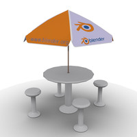 3d max outdoor table umbrella