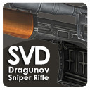 3d model of dragunov sniper rifle svd