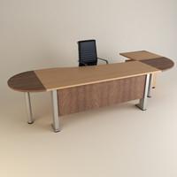 3dsmax office chair desk