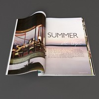 magazine pages 3d max