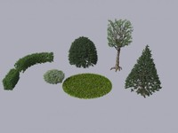 3ds max french gardens