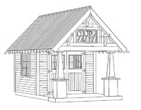 3d shed house model