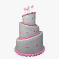 beautiful cake 3d model