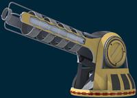 futuristic sci-fi turrets 3d model