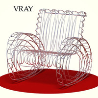 stainless steel wire chairs 3d max