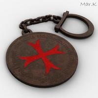 3dsmax templar keyring-pendant