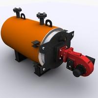 gas boiler 3d model