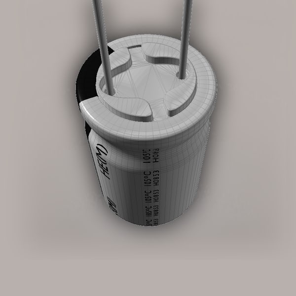 3d physically electrolytic capacitor model - Electrolytic Capacitor... by fast_zombie