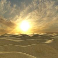 3d sunrise desert