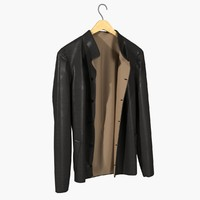 maya realistic leather jacket