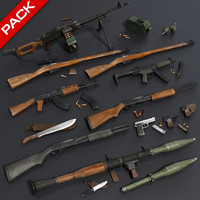 Low Poly Weapons Mega Pack