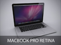 3d model notebook macbook retina