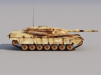 maya abrams tank low-poly