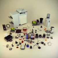 maya office clutter gadgets