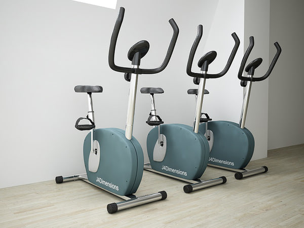 fitness bike 3d max - Fitness Bike... by J4Dimensions