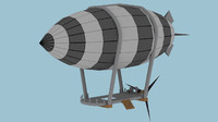 small airship blimp 3d 3ds