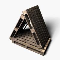 wood euro-pallete 3d model