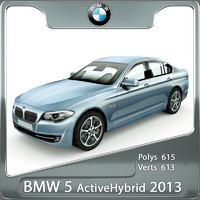 bmw 5 activehybrid 2013 3d model