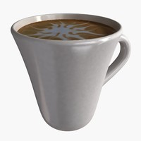3d model cup coffee 1