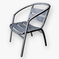 c4d metal chair