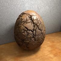 obj egg stone fossil