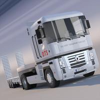3d model renault magnum semi truck