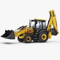 backhoe loader 3cx 3d max