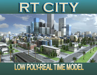 city street los angeles 3d c4d