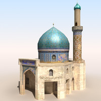 3d model mosque 2 arab afghan